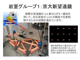岩室グループ:京大新望遠鏡