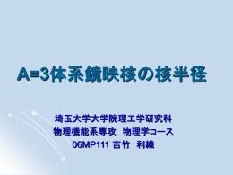 発表 - 原子核物理実験グループ