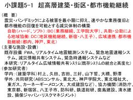 小課題5-1 - 久田研究室
