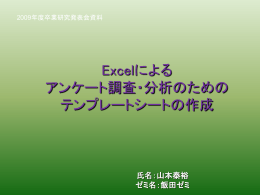 Excelによる アンケート調査・分析のための テンプレートシートの作成