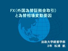 FX(外国為替証拠金取引) と為替相場変動要因