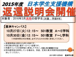 2015年度 日本学生支援機構