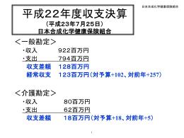 平成16年度収支決算 - 日本合成化学健康保険組合