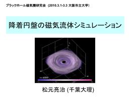 降着円盤の磁気流体シミュレーション