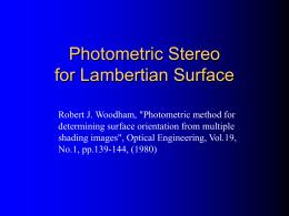 複数の画像から表面方向を 決定する照度差装置