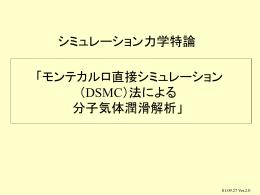 DSMC法とその分子気体潤滑問題への適用