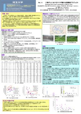 4,三春ダムにおけるヤナギ類の生態?