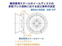 (a) 第1段 - 極限成形システム研究室(旧塑性加工研究室)