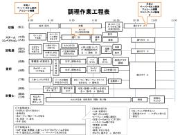 作業工程表 中華