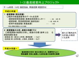 1-(3).畜産経営向上プロジェクト