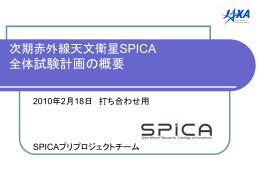 SPICA/FPI 試験とモデルの考え方