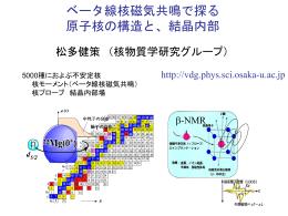 ベータ線核磁気共鳴で探る 原子核の構造と、結晶内部