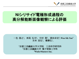 Si - 京都工芸繊維大学