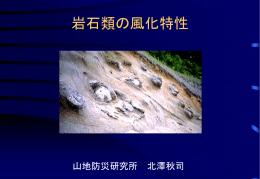天竜川流域の花崗岩類の特性とその防災対策
