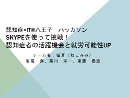 峯尾さんチーム発表資料