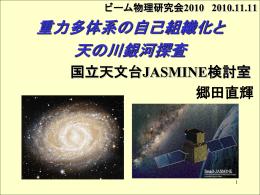 重力多体系の自己組織化と天の川銀河探査