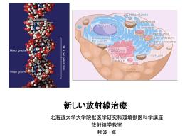 放射線治療 - 北海道大学