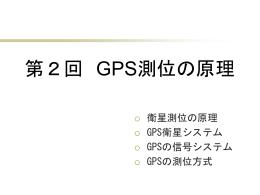 GPSによる位置計測