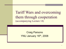 Tariff Wars and overcoming them through cooperation