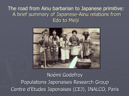 The Ainu and the Japanese