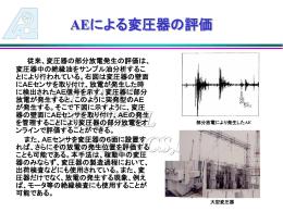 変圧器部分放電評価 - ae-application.com