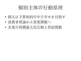飯田のミクロ第2章