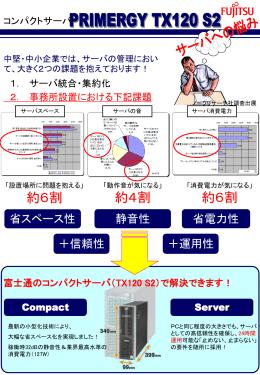 コンパクトサーバPRIMERGY TX120 S2