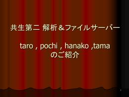 共生第二 解析&ファイルサーバー taro , pochi , hanako