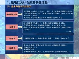 1.職場における産業保健活動