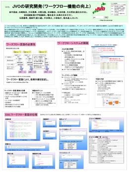 V07b JVOの研究開発(ワークフロー機能の向上)