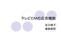浅井ゼミ テレビCMの広告機能