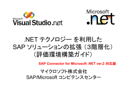 .NET テクノロジー を利用した SAP ソリューションの拡張 (3