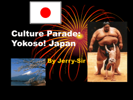 Culture Parade: Yokoso! Japan
