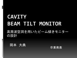 高周波空洞を用いたビーム傾きモニターの設計 (Daisuke Okamoto)
