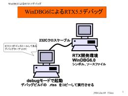 RTX5.5とWinDBG6.1によるRTSSプログラムのデバッグ設定