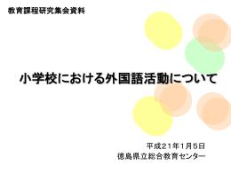 Ⅳ 英語活動実施上の留意点 - 徳島県立総合教育センター