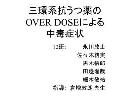 三環系抗うつ薬の OVER DOSEによる 中毒症状