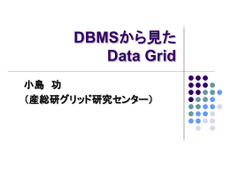(コメント) DBMS/ストレージから見た Data Grid