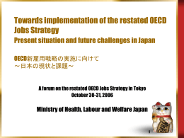 Towards implementation of the restated OECD Jobs Strategy
