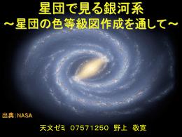 星団で見る銀河系