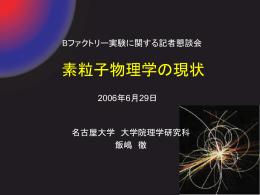 ppt - 名古屋大学理学研究科高エネルギー素粒子物理学研究室