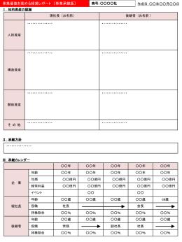 添付資料(事業承継)・作成フォーマット