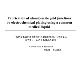 Fabrication of atomic-scale gold junctions by electrochemical plating