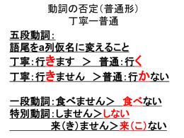 四年及日文二動詞否定要求練習帳