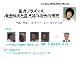 PowerPoint プレゼンテーション - 計画 - riam.kyushu-u.ac.jp
