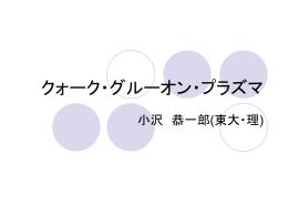 高エネルギー原子核物理 - 小沢研究室