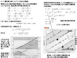 第4章:重力波と赤道波
