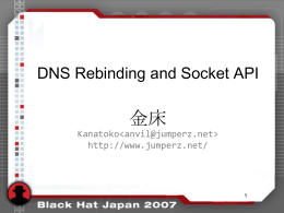 DNS Rebinding and Socket API