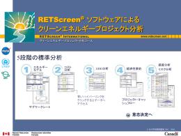 RETScreen ® ソフトウェアによる クリーンエネルギープロジェクト分析