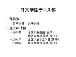 日文学園テニス部 - Nichibun.net